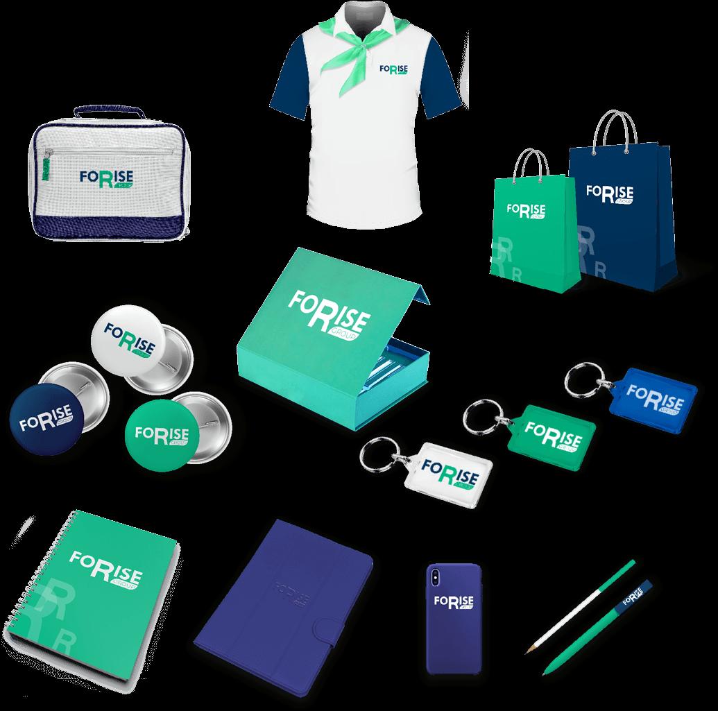 Разработка логотипа и фирменного стиля FoRise портфолио