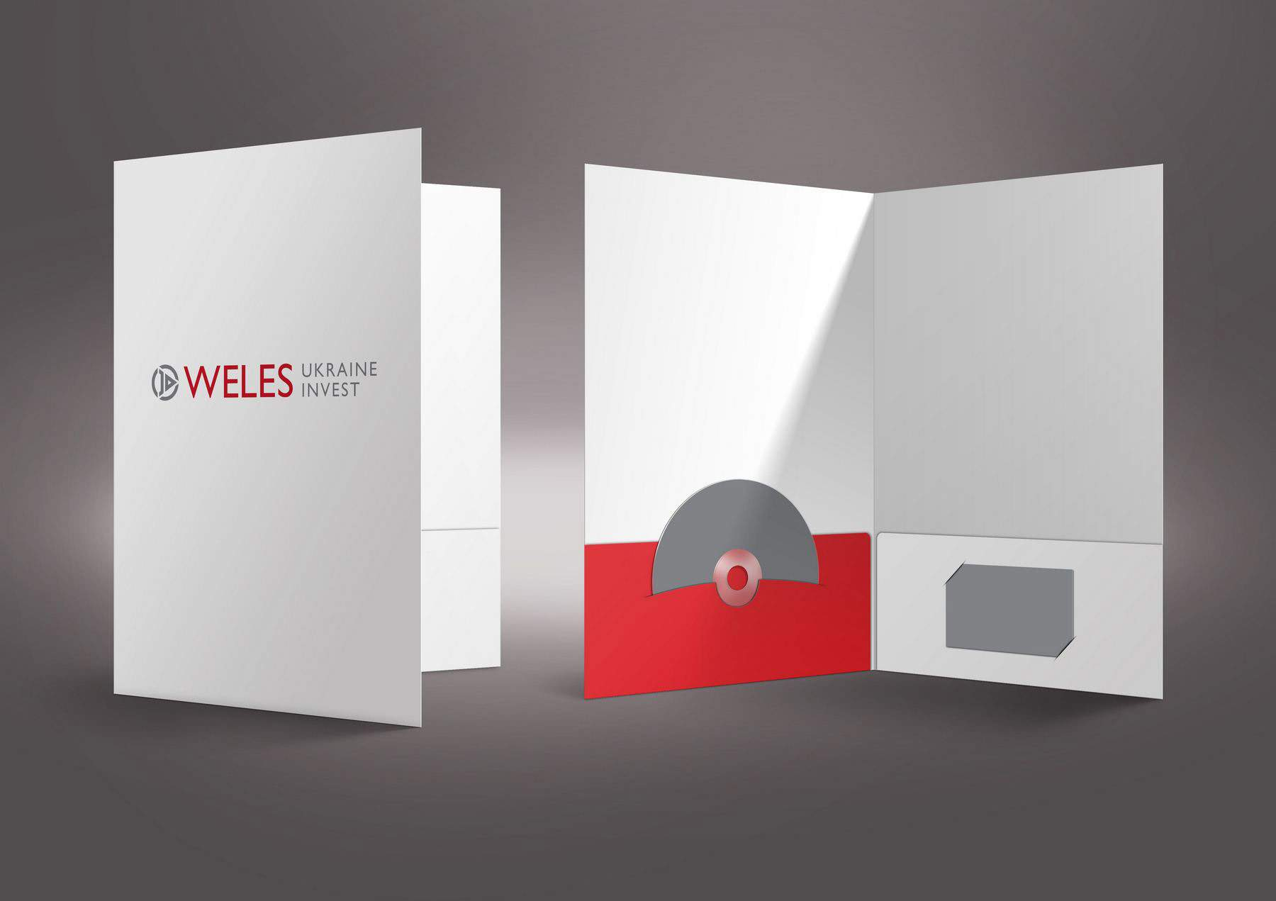 Logotype and corporate identity design for Weles investment company portfolio