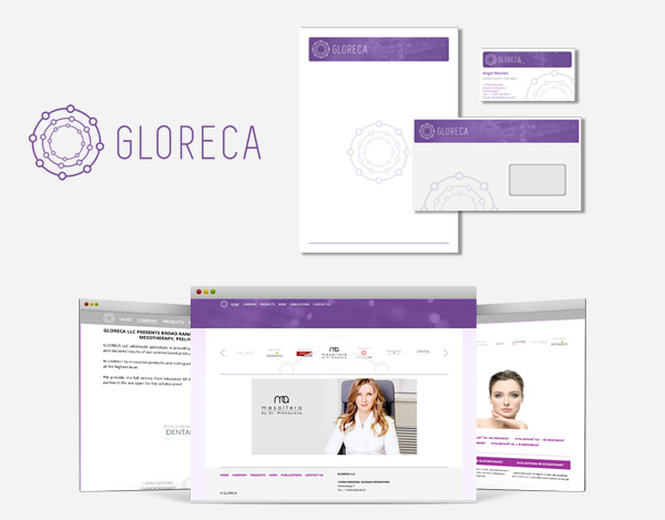 Logotype and corporate identity design for Gloreca company