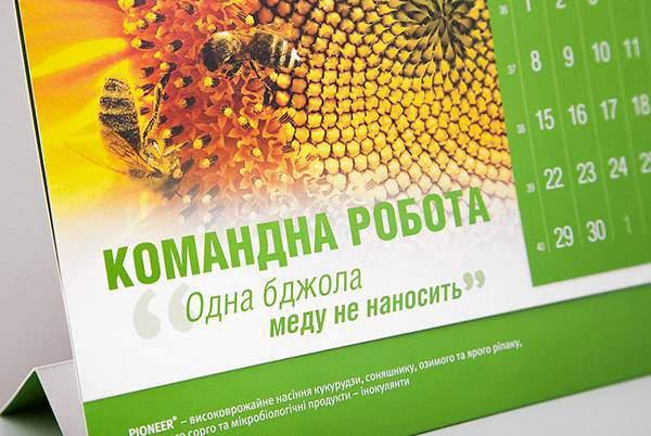 Desk calendar printing portfolio