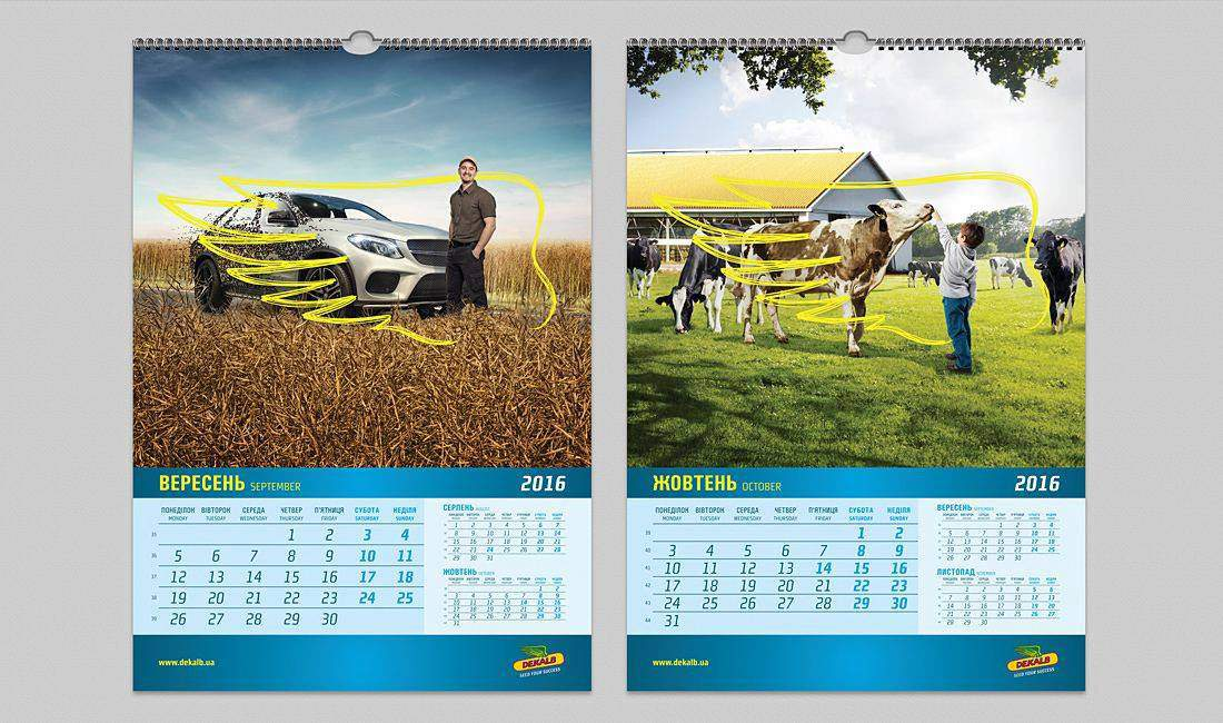 Wall Calendar Design Customized Design Creeative Concepts