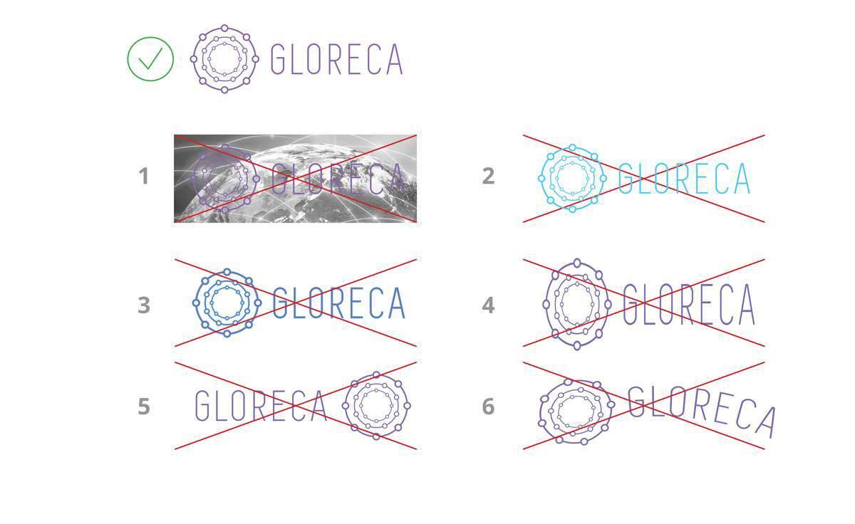 Разработка логотипа Gloreca портфолио