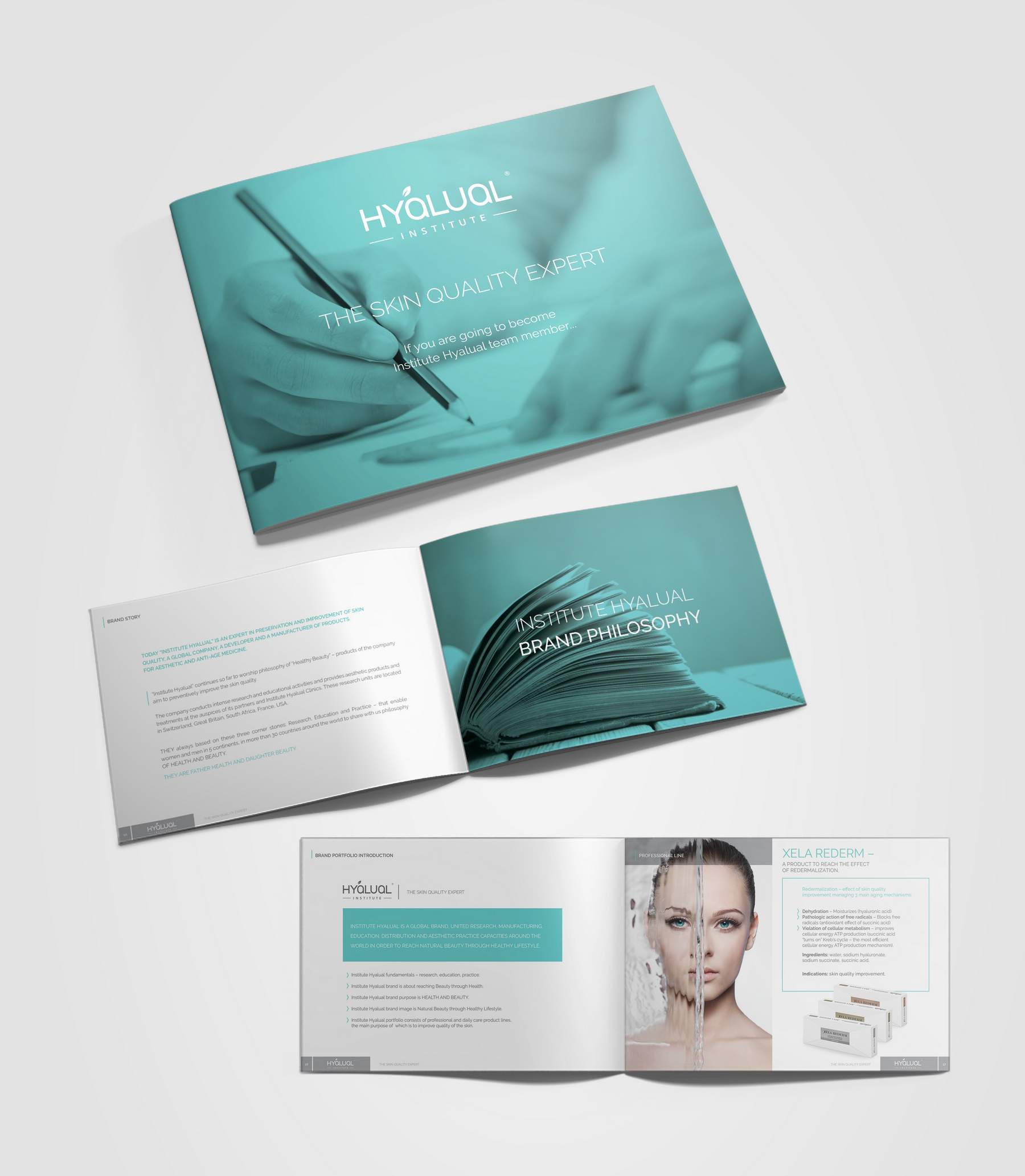 Hyalual catalogue design portfolio