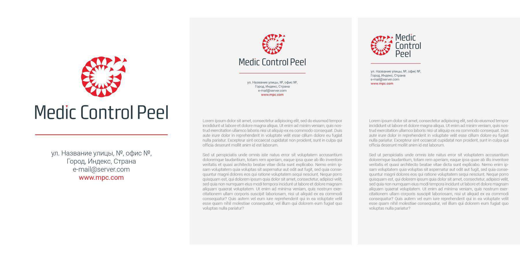 Разработка брендбука для линейки пилингов MCP портфолио