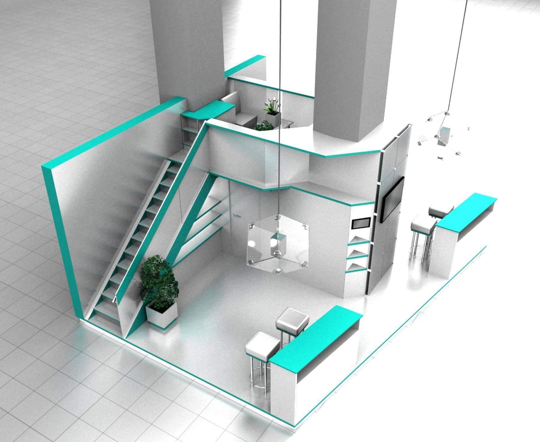 Exhibition stand modeling portfolio