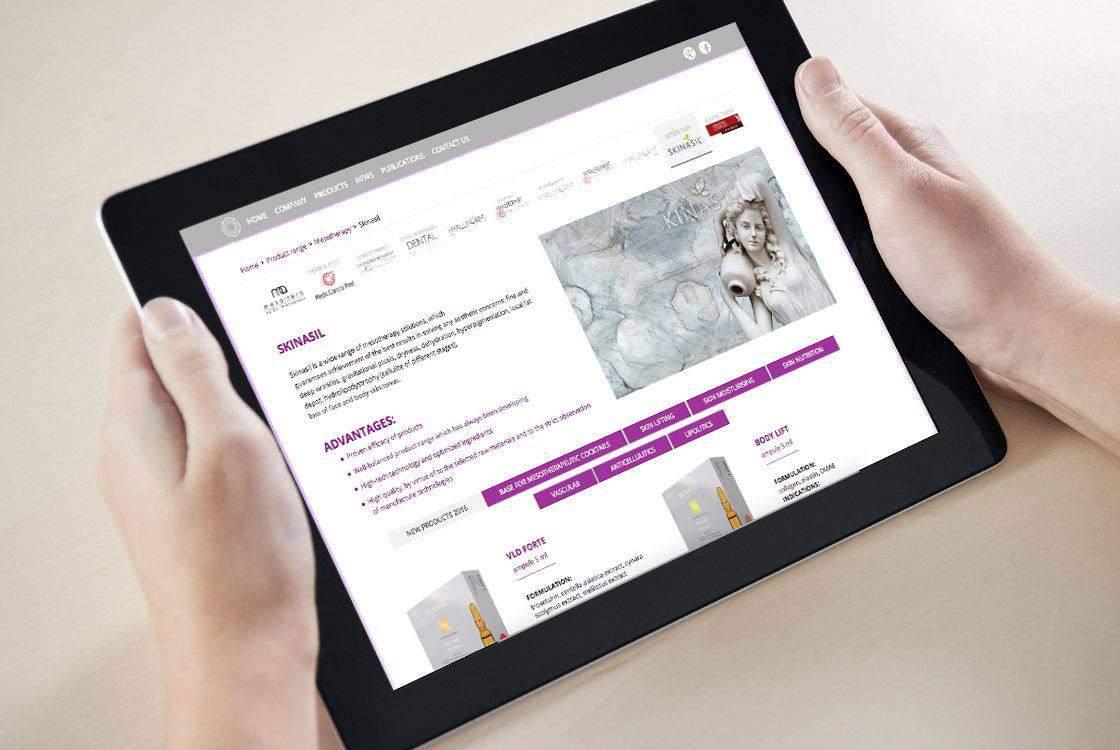 Разработка корпоративного веб сайта для компании Gloreca портфолио