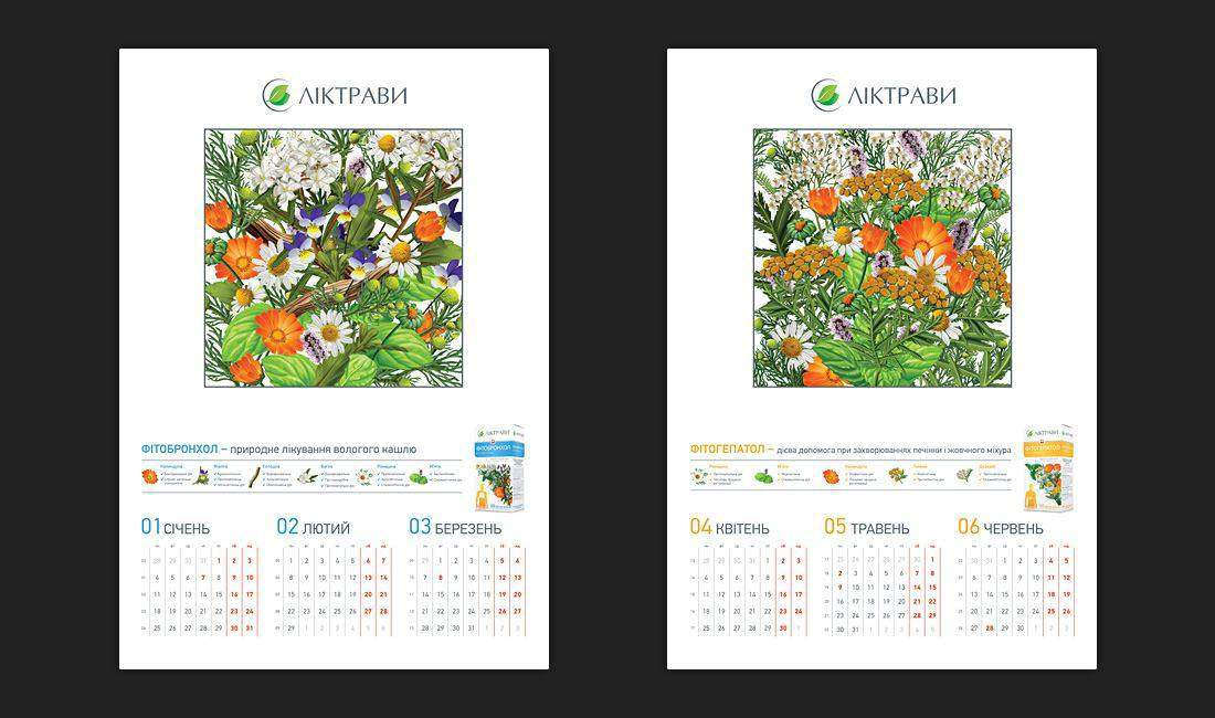 Creative concept and design for wall calendar portfolio