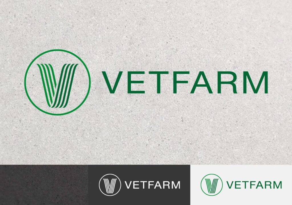 Logo design for Vetfarm company – manufacture, import and distribution of veterinary products