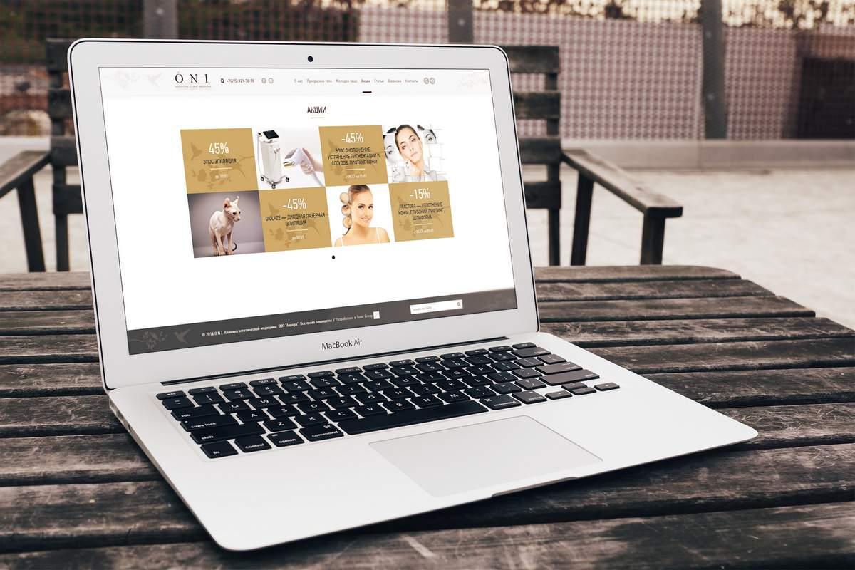Корпоративный сайт для клиники эстетической косметологии портфолио