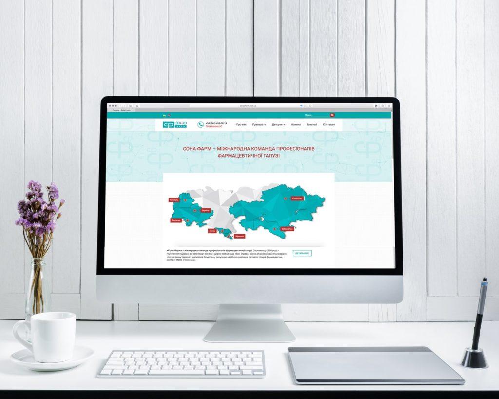 Corporate website development for Sona-Pharm pharmaceutical company
