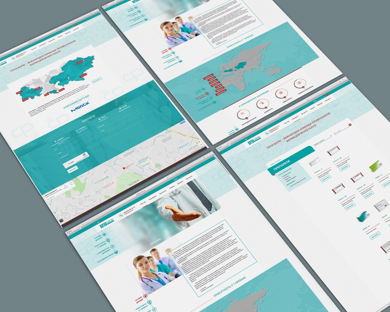 Corporate website development for Sona-Pharm pharmaceutical company portfolio