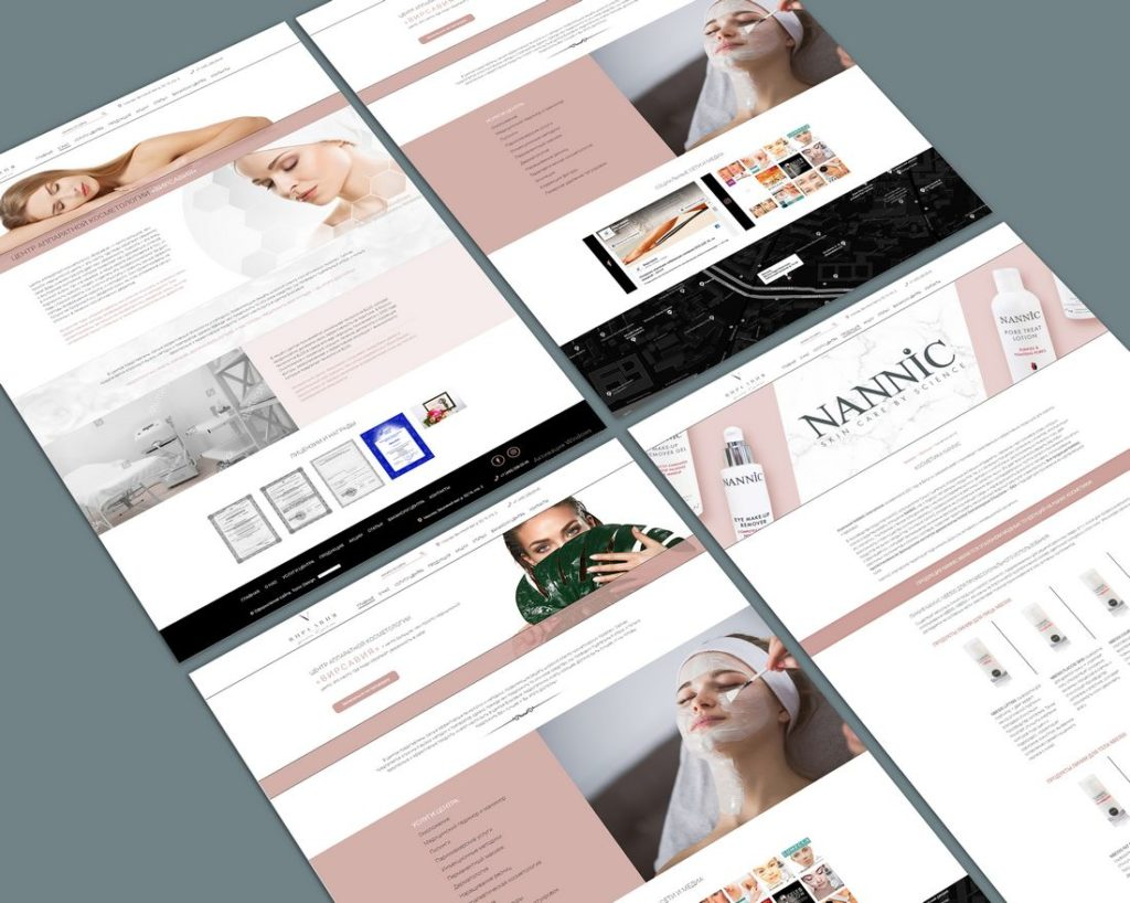 Website development for Virsavia  apparatus cosmetology beauty clinic.
