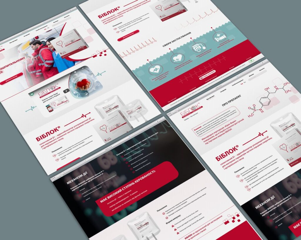 Landing page development for Biblok medicine